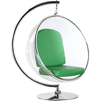 FineMod FMI1122 GREEN Bubble Hanging Chair, Green
