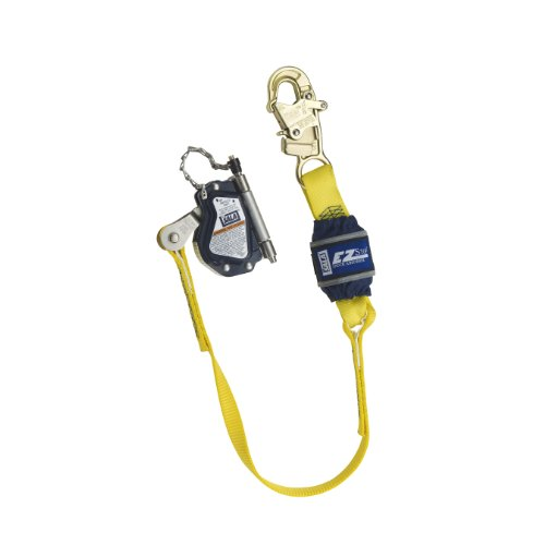 3M Dbi Sala Lad Saf 5002045 Mobile Rope Grab With Attached 3 Shock Absorbing Lanyard  Navy Yellow