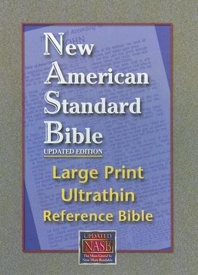 NASB Large Print Ultrathin Reference Bible (Black, Genuine Leather)