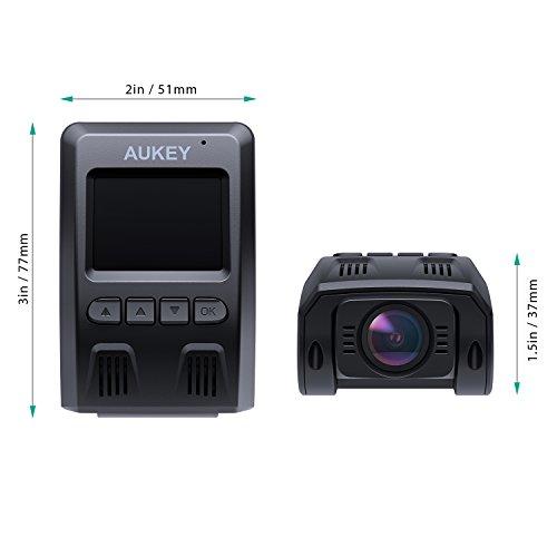 aukey 4k dash cam with 6 lane wide angle lens dashboard. Black Bedroom Furniture Sets. Home Design Ideas