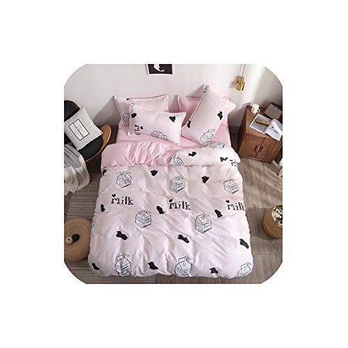 LOVE-JING Little Footprints Duvet Cover Flat Bed Sheets +Pillowcase Super King Queen Full Twin Kids Size Cotton Bedding Set,B29,Full Cover 180By220,Flat Bed Sheet (Lego Queen Sheet Set)