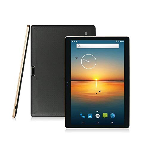 LLLCCORP 3G Unlocked Android Tablet 10 inch Octa Core 2.5Ghz Dual SIM Card Slots 4GB RAM 64GB ROM Built-in WiFi Bluetooth GPS Google Play Store Netflix YouTube (Black)