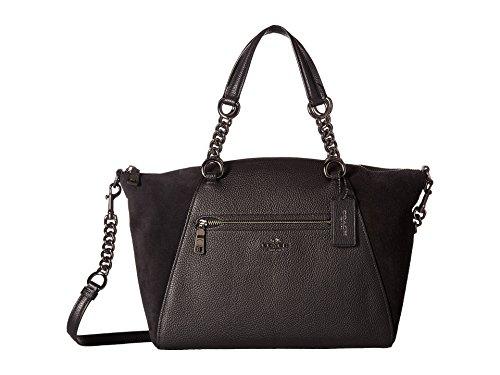 COACH Women's Mixed Leather Chain Prairie Satchel Dk/Black Handbag by Coach