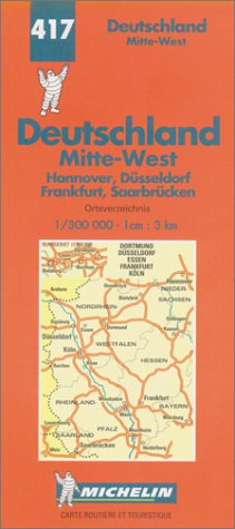 Michelin Germany Midwest Map No. 417 (Michelin Maps & Atlases)