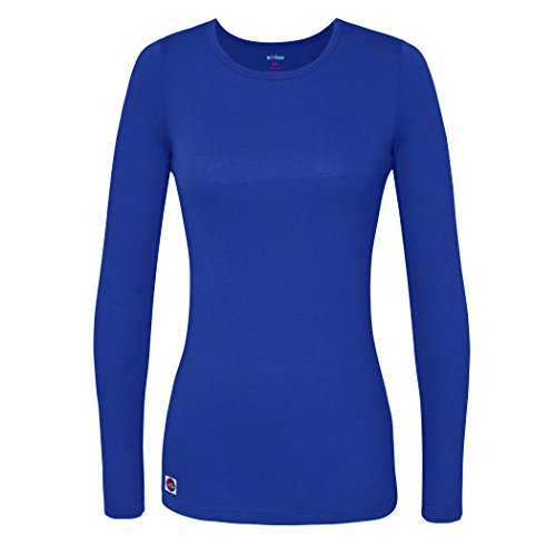 Royal Blue Jersey - Sivvan Women's Comfort Long Sleeve T-Shirt/Underscrub Tee - S8500 - Royal Blue - S