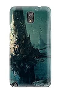 CharlesRaymondBaylor Scratch-free Phone Case For Galaxy Note 3- Retail Packaging - Underwater City