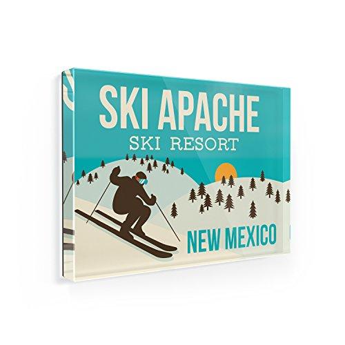 Fridge Magnet Ski Apache Ski Resort - New Mexico Ski Resort - NEONBLOND
