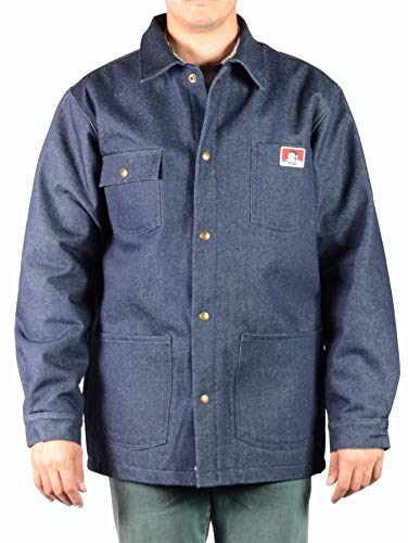 Ben Davis Original Jacket, Indigo Denim - Front Snap (396) Size XL