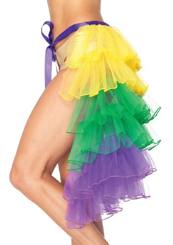 Layered Bustle Skirt Mardi Gras Costume - Adult Std.