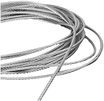 3//4mm Galvanised Steel Clear PVC Plastic Coated Wire Rope Boat Price Per Meter