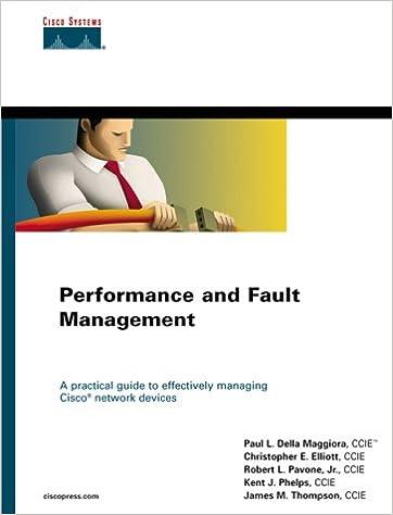 Performance and Fault Management (Cisco Press Core Series): Paul L