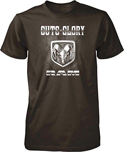Guts and Glory RAM, RAM Trucks, Dodge Trucks Men's T-shirt, Brown, L
