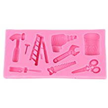 Hammer Screwdriver Ladder Tools Silicone Cake Mould Chocolate Fondant Mold