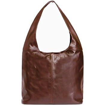 21fe1765464f Amazon.com  LaGaksta Italian Leather Hobo Bag Brown  Shoes