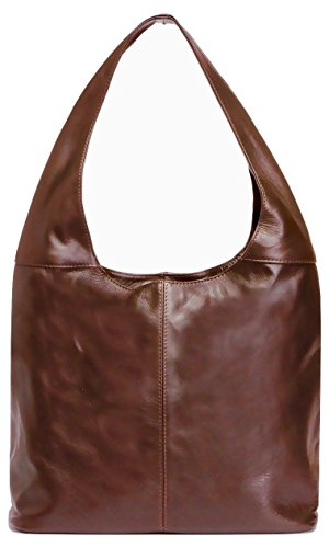LaGaksta Leather Hobo Handbag Made in Italy/Brown by LaGaksta