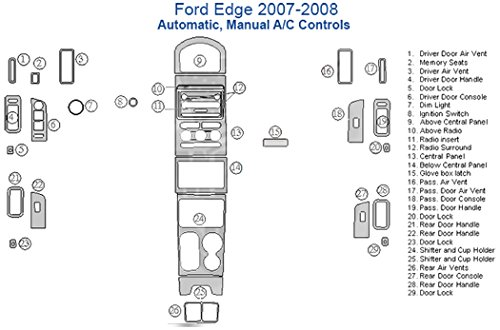 Amazon Ford Edge Full Dash Trim Kit Automatic Manual Ac. Amazon Ford Edge Full Dash Trim Kit Automatic Manual Ac Control Camo Automotive. Ford. 2008 Ford Edge Ac Duct Schematic At Scoala.co