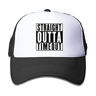 Boys&Girls Straight Outta Timeout Adjustable Trucker Visor Cap Black