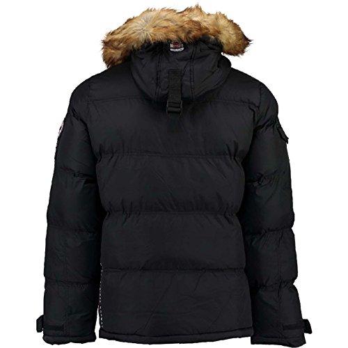 Ideale Geographical Norway Black L'outdoor Da Behar Per Invernale Imbottita Giacca Uomo RRBrqx0w