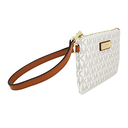 5117f550dc85 MICHAEL Michael Kors Signature Jet Set Item Medium Wristlet, Color 150  Vanilla White Hardware by
