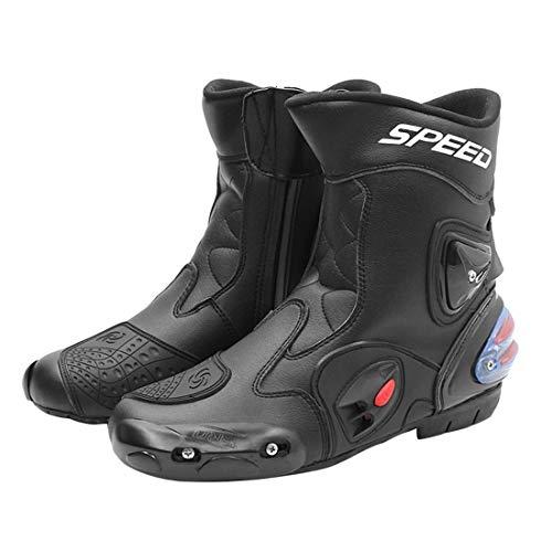 FULUOYIN Motorradstiefel Motorrad Schuhe Lang Herren Sneaker Wasserabweisend mit Hartschalenprotektoren und Reflexion 40…