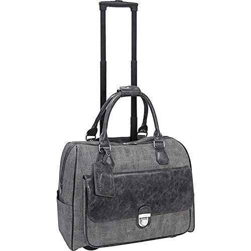 cabrelli-linda-linen-15-laptop-rollerbrief-charcoal-gray
