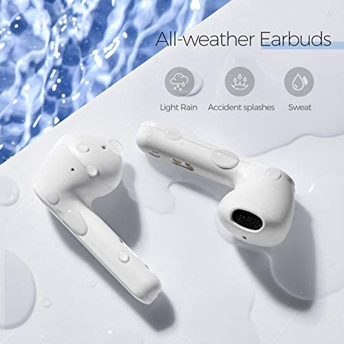 Wireless Earbuds, Mpow MX3 Bluetooth Earbuds in Ear w/Wireless Charging Case/USB-C, Wireless Earphones Hi-Fi Stereo Sound, Bluetooth 5.0 Headphones w/Mic, Touch Control/25H/IPX7 for Sports/Work/3 Mode