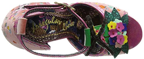 Irregular Choice Women's May Meadow Ankle Strap Sandals Pink (Pink) z1Ook