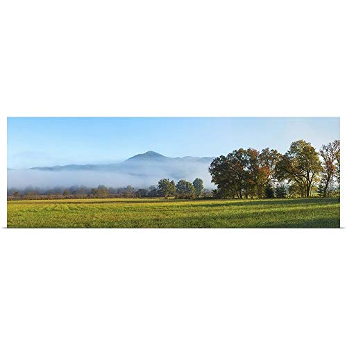 GREATBIGCANVAS Poster Print Entitled Fog Over Mountain, Cades Cove, Great Smoky Mountains National Park, Tennessee by 48