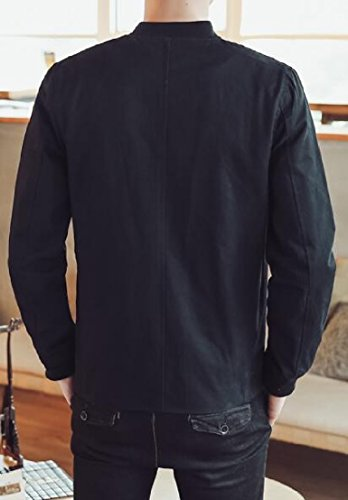 Coat Sleeve Long Stylish Button Style Chinese Black Jacket TTYLLMAO Men Frog Tang qw1XYTy8x