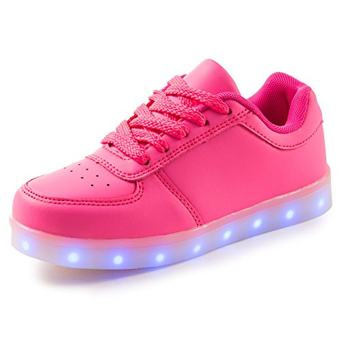 Qkettle Girls Flashing Charging Sneakers
