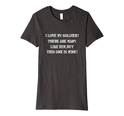 Army Wife Dark T-shirts (Womens I love my Solider T-Shirt-Army Wife,Mom,Dad Tee Medium Dark Heather)