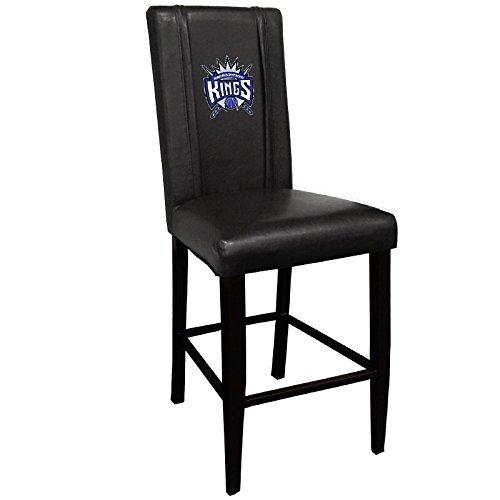 XZipit NBA Bar Stool 2000 with Sacramento Kings Logo Panel, Black