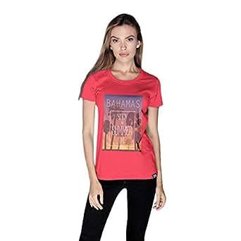 Creo Bahamas Beach T-Shirt For Women - Xl, Pink