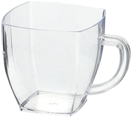 (Clear Plastic Mini Cafe Cups - 2 oz - Disposable & Recyclable - Plastic Espresso Cup, Plastic Coffee Cup, Coffee Mug - 100 Count Box -)