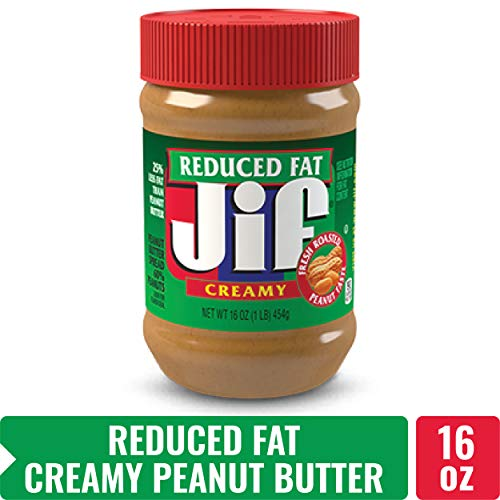 Jif Creamy Reduced Fat Peanut Butter Spread, 16 Ounce (Pack of 12)