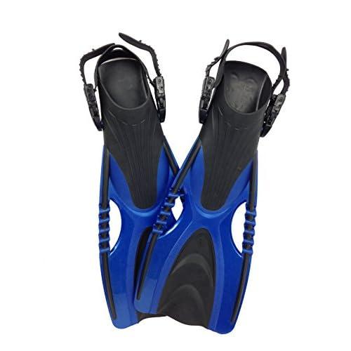 Tunturi Swimming Palmes de Plongée Ajustables Mythos Taille 36-40 Bleues Mixte Adulte, Blue, 1