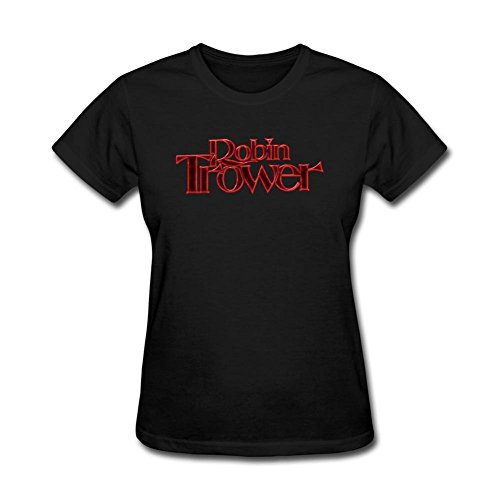 SAMJOS Women's Robin Trower Logo T-shirt Size S Black