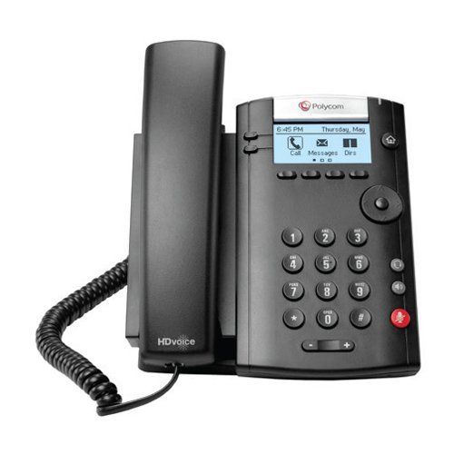 Polycom VVX 201 2-Line PoE Business Media Phone (2200-40450-025) - Power Supply Not Included (Certified Refurbished) by Polycom