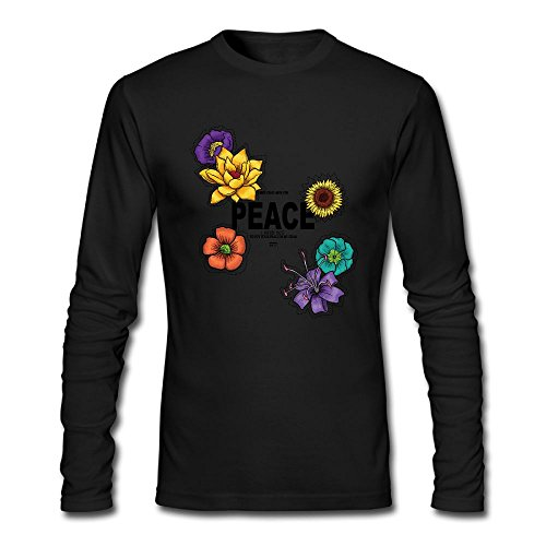 - Peace 2017 New Style Man O-Neck Long Sleeve Cool Dry Printed Sports T-Shirts