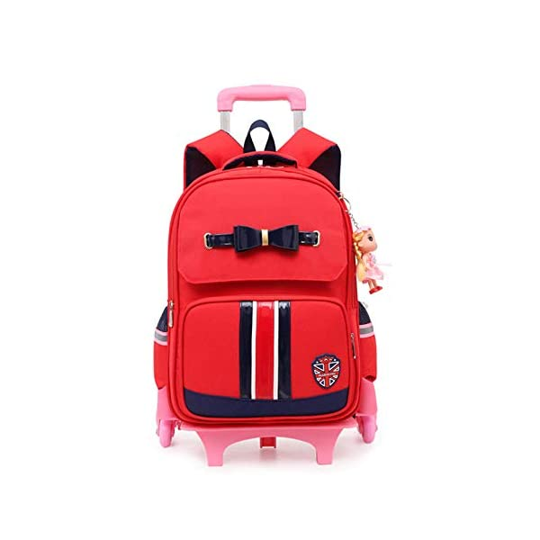 Borsa da scuola trolley per bambini in stile britannico Borse da scuola Bow Roller perzaini da viaggio zainoper ragazzeadolescenti-6weel_blue 3 spesavip