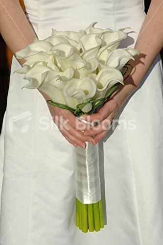 Gorgeous, Classic Hand Tied Ivory Calla Lily Bridal Bouquet