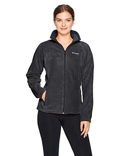 Columbia Women's Tested Tough in Pink Benton Springs Full Zip Jacket, Black, XL