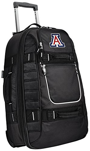 Small University of Arizona Carry-On Bag Wheeled Suitcase Luggage Bags by Broad Bay