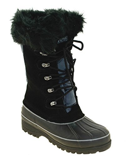Khombu Women's Nordic Boot, Black, 7
