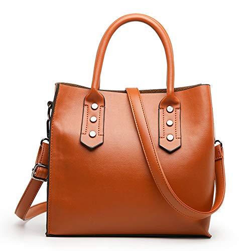 Women PU Leather Hobo Bag Vintage Boston Top-handle Bags Fashion Sling Brown Shoulder Bag for Ladies