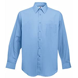 Fruit of the Loom Men's Long Sleeve Poplin Shirt Casual