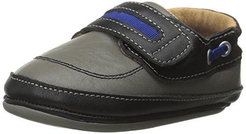 umi Gene Crib Shoe (Infant/Toddler), Black/Gray, 22 EU(6.5 M US ()