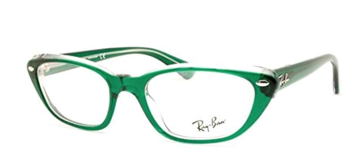37533f85c9 Amazon.com  Ray-Ban Women s RX5242 Eyeglasses Top Dark Green On Transp 53mm   Clothing