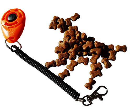 Dog Clicker with Poultry Training Treats – One Clicker (random colour) and One 500g Poultry Treat pk