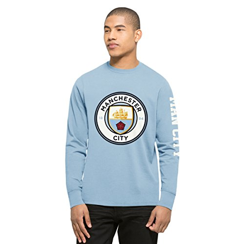 International Soccer Manchester City Men's EPL Crosstown Team Long Sleeve Tee, X-Large, Carolina